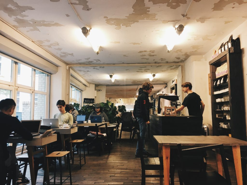 Companion Coffee in Kreuzberg Berlin. It has free WiFi and is suitable for freelancers.